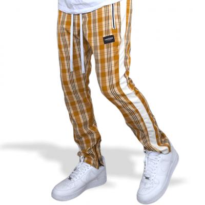 Calça Track Pant Xadrez Amarela Masculino