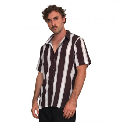 Camisa Listrada Preta e Branca