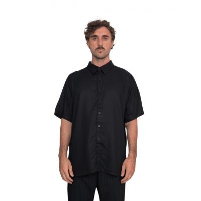 Camisa Preta Manga Curta